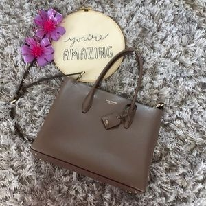 *REDUCED* Kate Spade Taupe Tote Bag & Crossbody